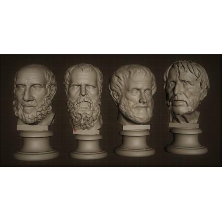SM 43 Busti Filosofi 1 (Platone, Socrate, Aristotele e Seneca) h. cm. 13