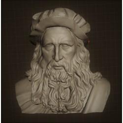 SM 46 Busto Leonardo da Vinci h. cm. 13