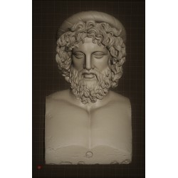 SM 63 Testa di Asclepius - Museo Crawford h. cm. 13