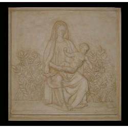 LR 146 Bassorilievo Madonna del Roseto h. cm. 59x59