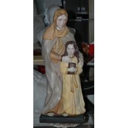 LS 144D Statua Sant'Anna con Madonna bambina h. cm. 77