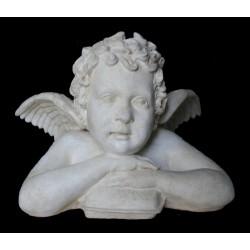 LB 3 Busto Angelo braccia conserte su cuscino h. cm. 40