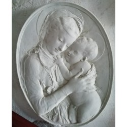 LR 95 Bassorilievo ovale Madonna di Donatello h. cm. 49x39