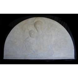 LR 56 Bassorilievo Lunetta Madonna del Rossellino h. cm. 80x139