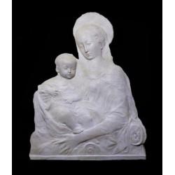 LR 61 Bassorilievo Madonna del Rossellino scontornata h. cm. 79x59