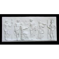 LR 70 Bassorilievo Hermes e Dioniso h. cm. 51x114