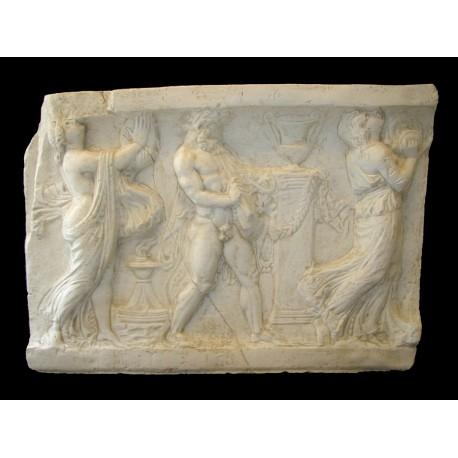 LR 129 Bassorilievo Scene mitologiche elleniche h. cm. 51x73