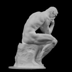 SM 17 Pensatore di Rodin h. cm. 20 (Museo Rodin)