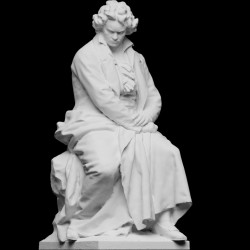 RID 68 Statua Ludwig van Beethoven h. cm. 30
